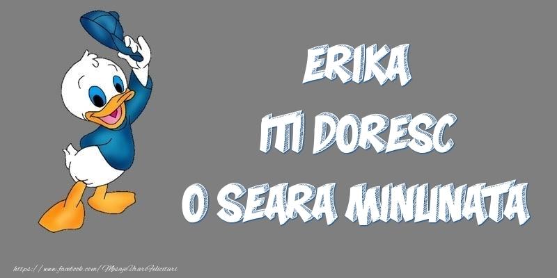 Felicitari de buna seara - Erika iti doresc o seara minunata