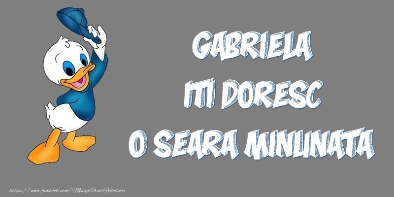 Felicitari de buna seara - Gabriela iti doresc o seara minunata