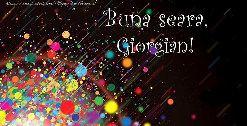 Felicitari de buna seara - Buna seara, Giorgian!