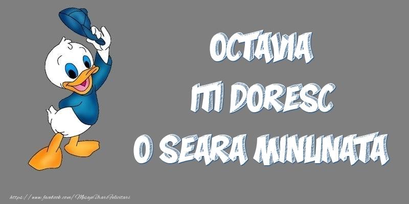 Felicitari de buna seara - Octavia iti doresc o seara minunata