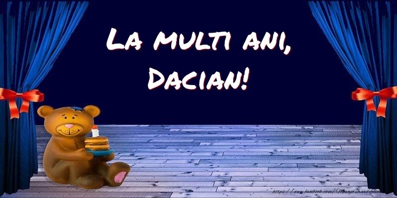 Felicitari pentru copii - La multi ani, Dacian!