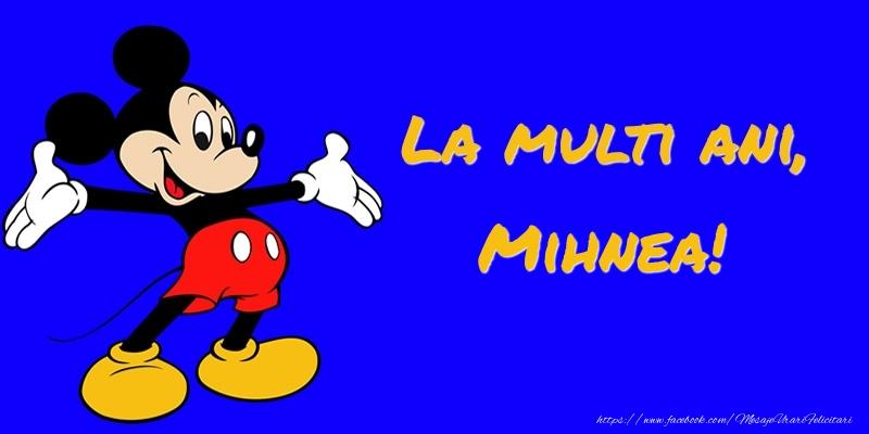 Felicitari pentru copii - Felicitare cu Mickey Mouse: La multi ani, Mihnea!