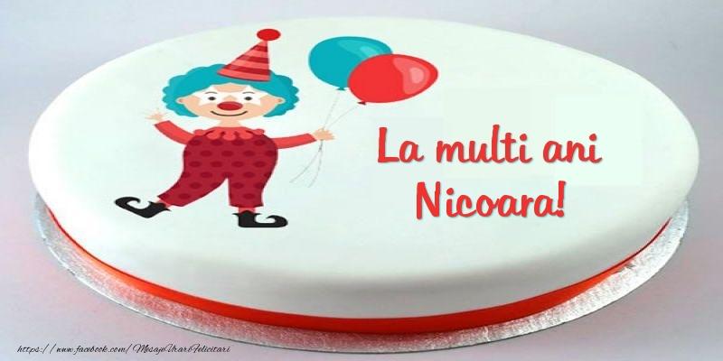 Felicitari pentru copii - Tort La multi ani Nicoara!