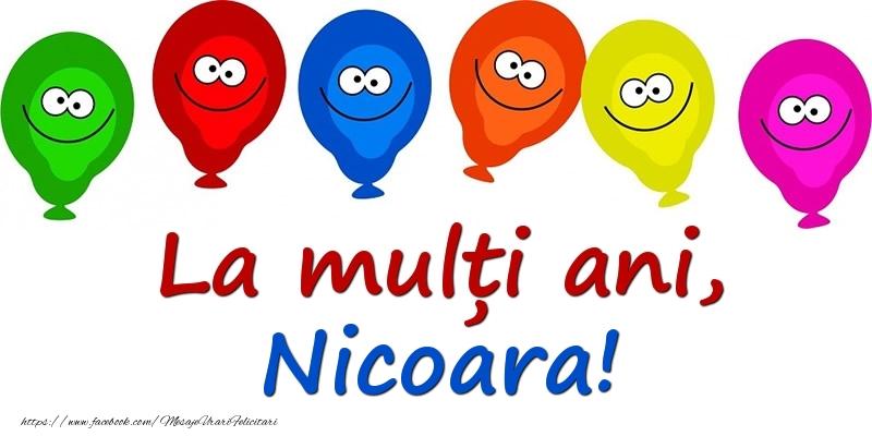Felicitari pentru copii - La mulți ani, Nicoara!