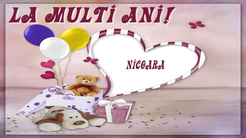 Felicitari pentru copii - La multi ani! Nicoara