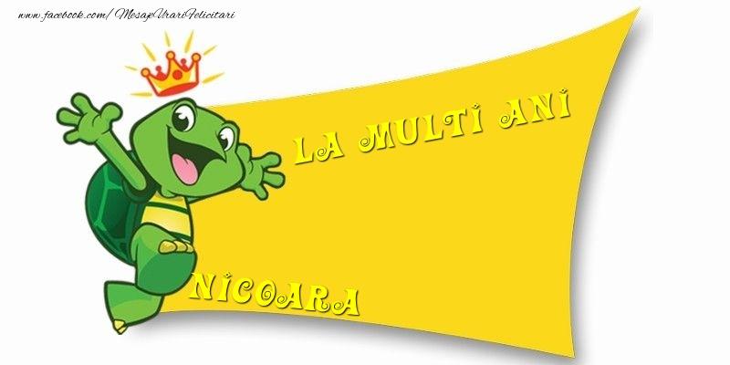 Felicitari pentru copii - La multi ani Nicoara