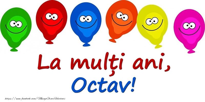 Felicitari pentru copii - La mulți ani, Octav!