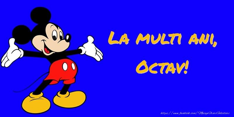Felicitari pentru copii - Felicitare cu Mickey Mouse: La multi ani, Octav!