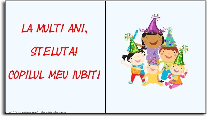Felicitari pentru copii - La multi ani, copilul meu iubit! Steluta