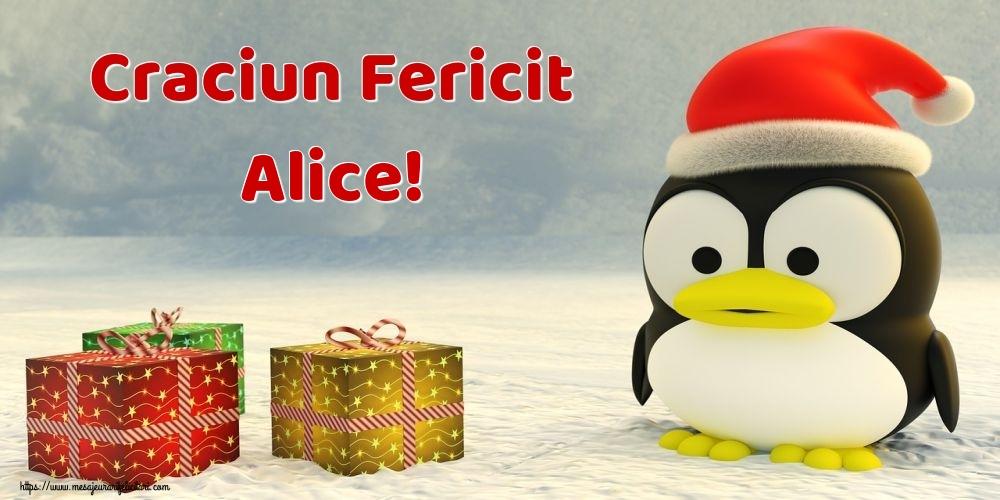 Felicitari de Craciun - Craciun Fericit Alice!