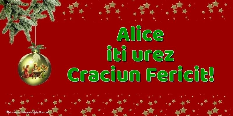 Felicitari de Craciun - Alice iti urez Craciun Fericit!