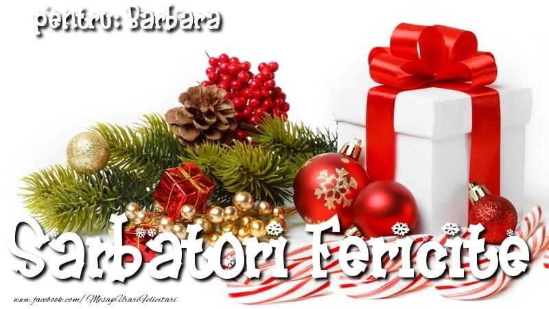 Felicitari de Craciun - Sarbatori Fericite Barbara
