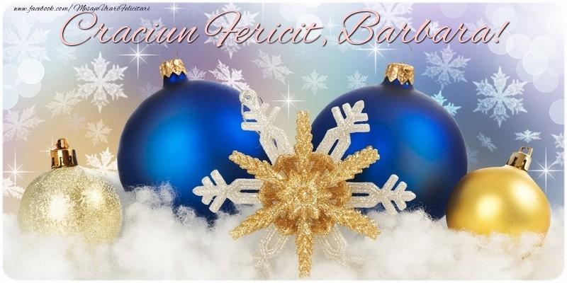 Felicitari de Craciun - Craciun Fericit, Barbara!