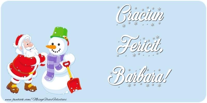 Felicitari de Craciun - Craciun Fericit, Barbara