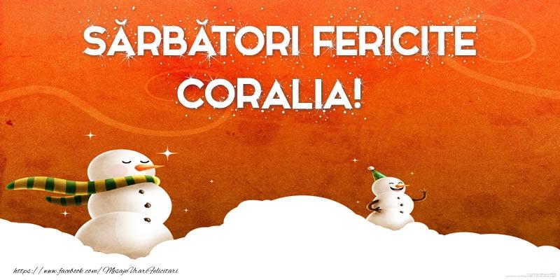 Felicitari de Craciun - Sărbători Fericite Coralia!