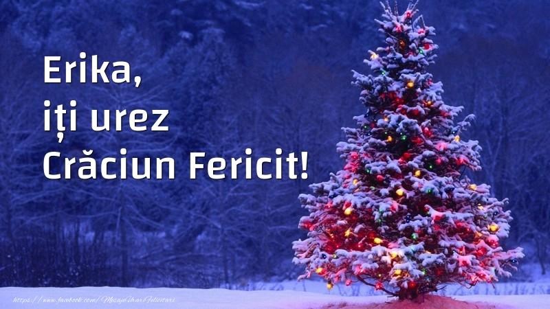 Felicitari de Craciun - Erika, iți urez Crăciun Fericit!
