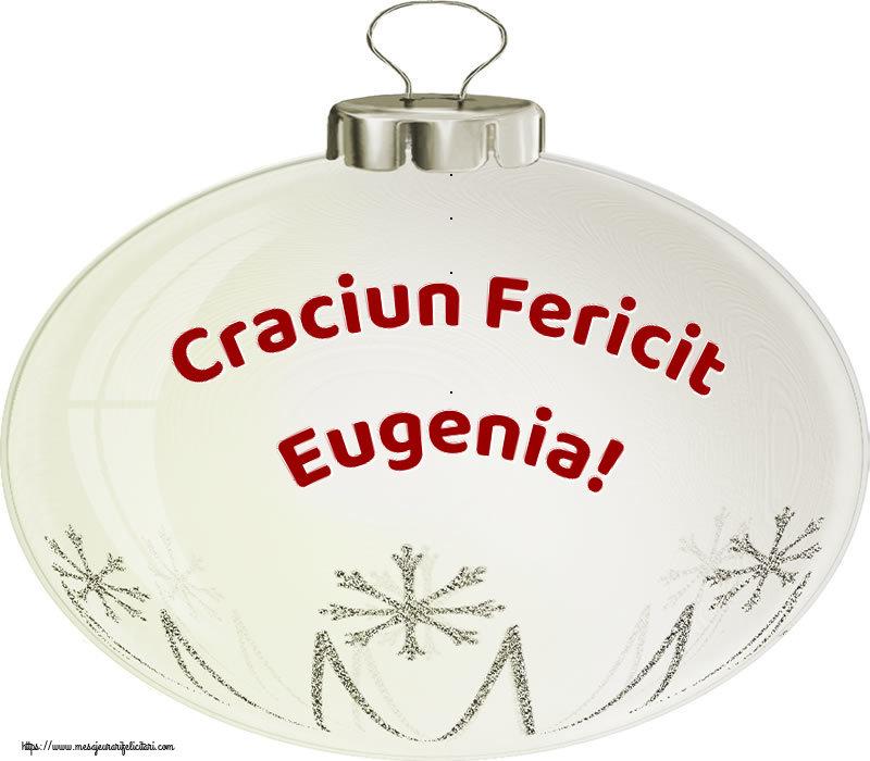 Felicitari de Craciun - Craciun Fericit Eugenia!