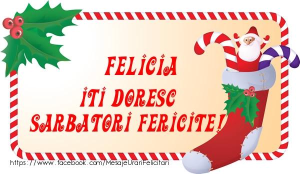 Felicitari de Craciun - Felicia Iti Doresc Sarbatori Fericite!