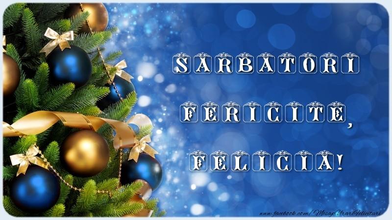 Felicitari de Craciun - Sarbatori Fericite, Felicia