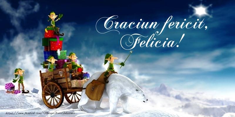 Felicitari de Craciun - Craciun fericit, Felicia!