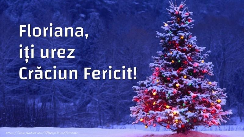 Felicitari de Craciun - Floriana, iți urez Crăciun Fericit!