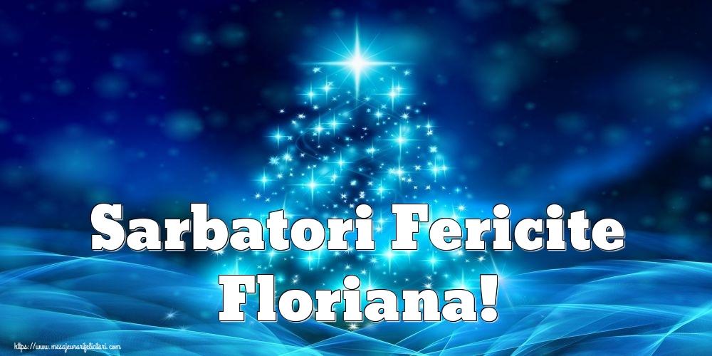 Felicitari de Craciun - Sarbatori Fericite Floriana!