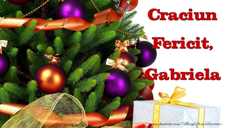 Felicitari de Craciun - Craciun Fericit, Gabriela