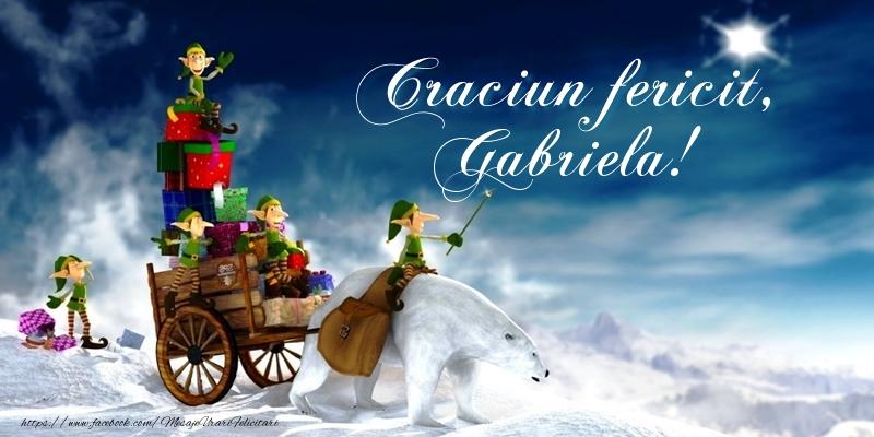 Felicitari de Craciun - Craciun fericit, Gabriela!