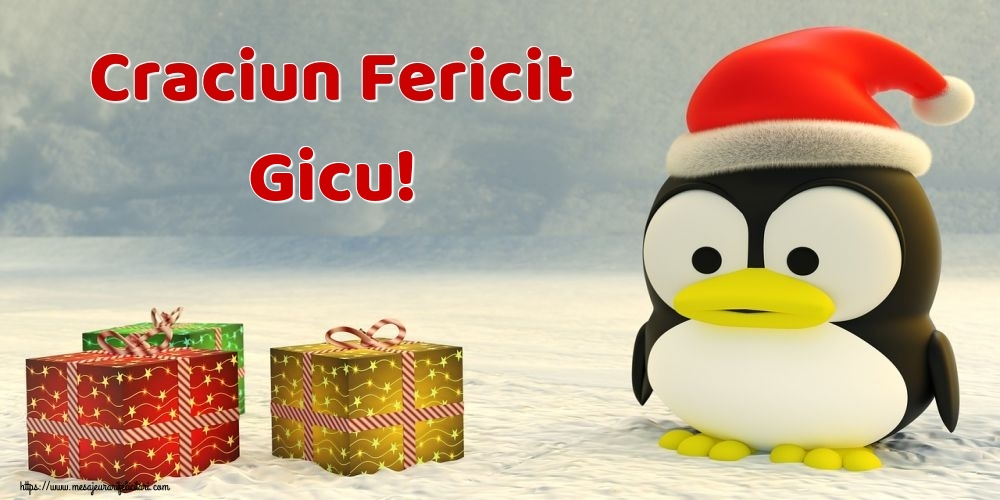 Felicitari de Craciun - Craciun Fericit Gicu!