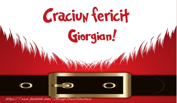 Felicitari de Craciun - Craciun Fericit Giorgian!