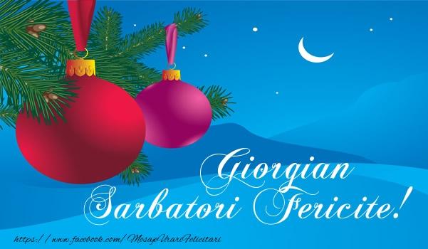 Felicitari de Craciun - Giorgian Sarbatori fericite!