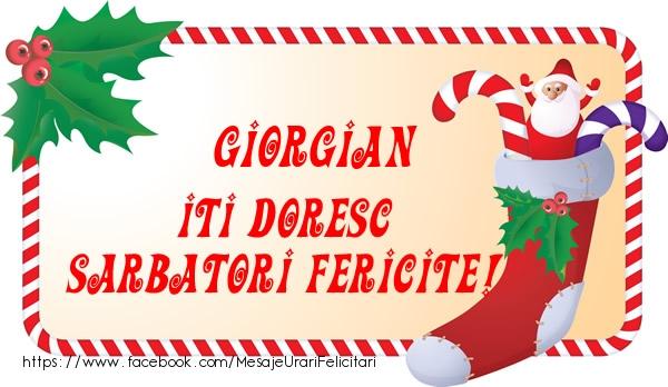 Felicitari de Craciun - Giorgian Iti Doresc Sarbatori Fericite!