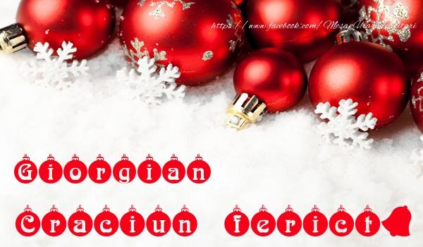 Felicitari de Craciun - Giorgian Craciun Fericit!
