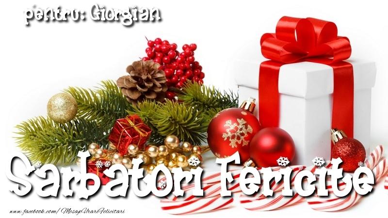 Felicitari de Craciun - Sarbatori Fericite Giorgian