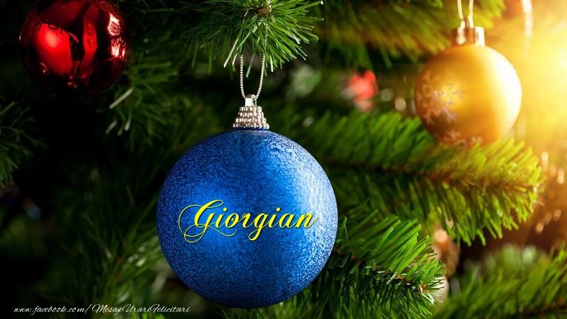 Felicitari de Craciun - Globul tau Giorgian