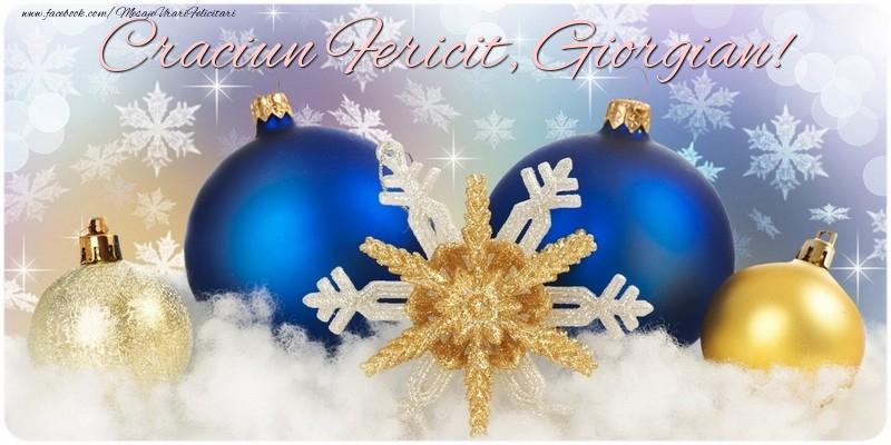 Felicitari de Craciun - Craciun Fericit, Giorgian!