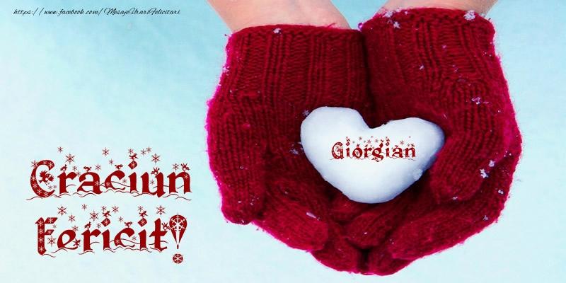 Felicitari de Craciun - Giorgian Inimoara Craciun Fericit!