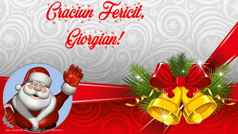 Felicitari de Craciun - Craciun Fericit, Giorgian