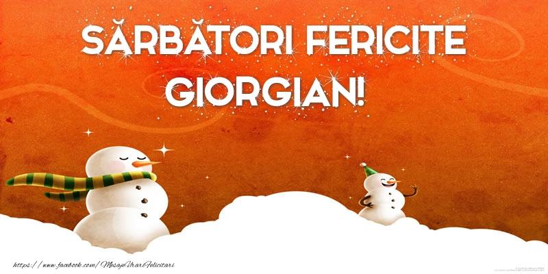 Felicitari de Craciun - Sărbători Fericite Giorgian!