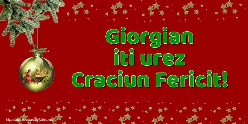 Felicitari de Craciun - Giorgian iti urez Craciun Fericit!
