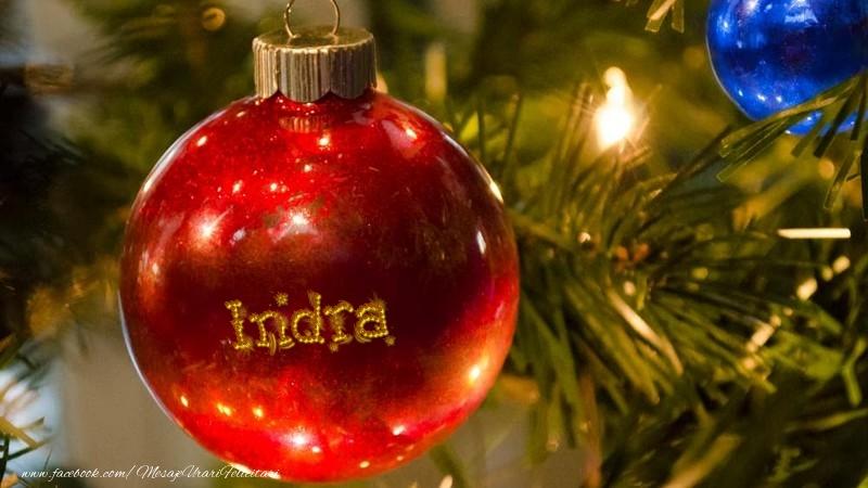 Felicitari de Craciun - Nume pe glob Indra