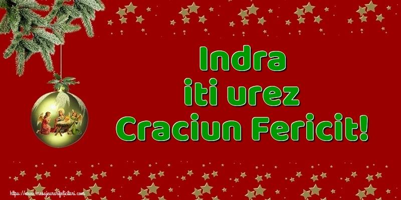 Felicitari de Craciun - Indra iti urez Craciun Fericit!