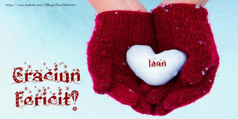 Felicitari de Craciun - Ioan Inimoara Craciun Fericit!