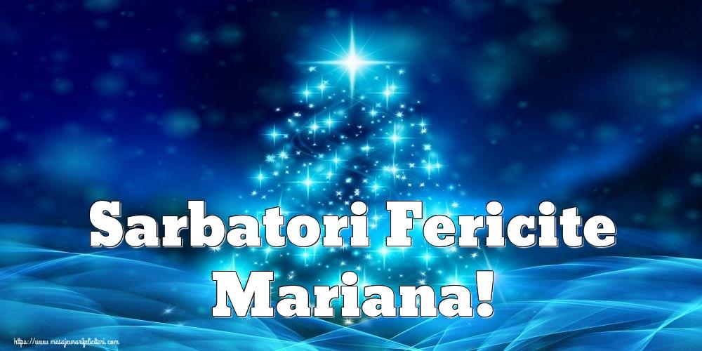 Felicitari de Craciun - Sarbatori Fericite Mariana!