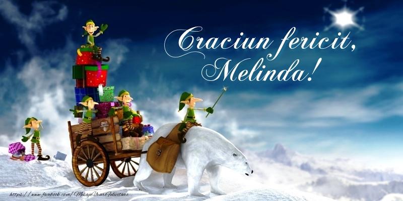 Felicitari de Craciun - Craciun fericit, Melinda!
