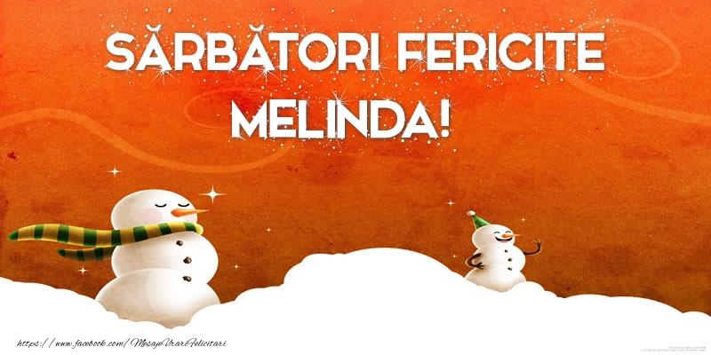 Felicitari de Craciun - Sărbători Fericite Melinda!