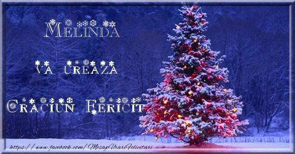 Felicitari de Craciun - Melinda va ureaza Craciun Fericit