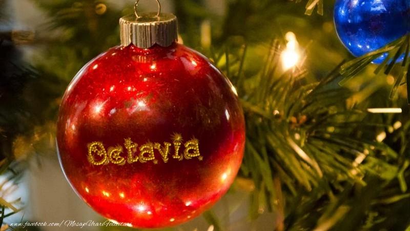 Felicitari de Craciun - Nume pe glob Octavia