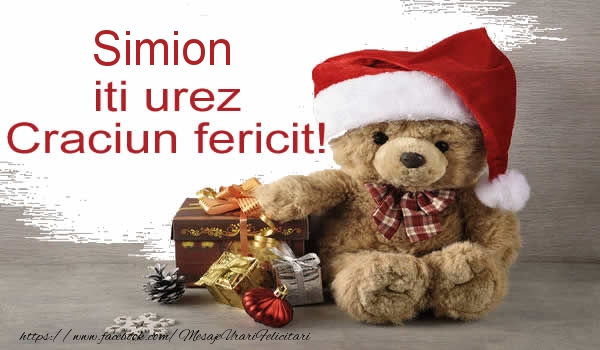 Felicitari de Craciun - Simion iti urez Craciun fericit!