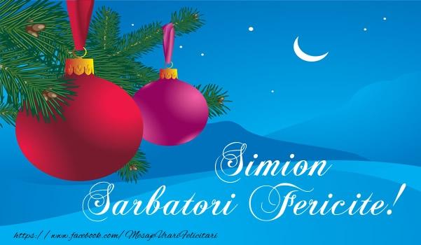 Felicitari de Craciun - Simion Sarbatori fericite!